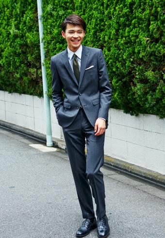 中田圭祐「グレースーツを着こなせて嬉しいです!」_ホットトピックス