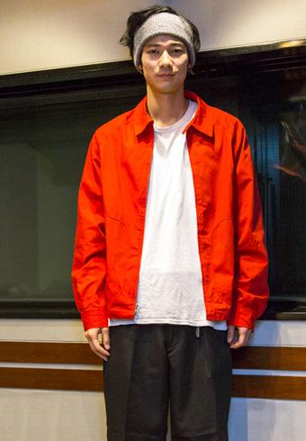 清原 翔「なぜか最近はコーデに赤を入れたい気分!」_ホットトピックス