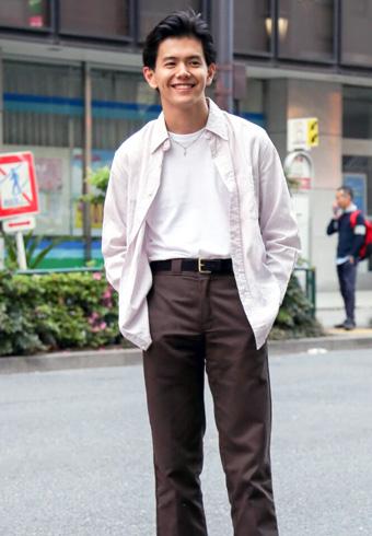 井上翔太「最近は、古着のシャツばかり着ています!」_ホットトピックス