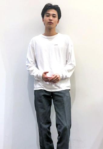 中田圭祐「ディッキーズのパンツは最近、グレーがお気に入り!」_ホットトピックス