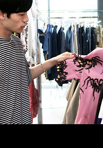 若林拓也、最高すぎる柄の開衿シャツをビームスで発見!_ホットトピックス