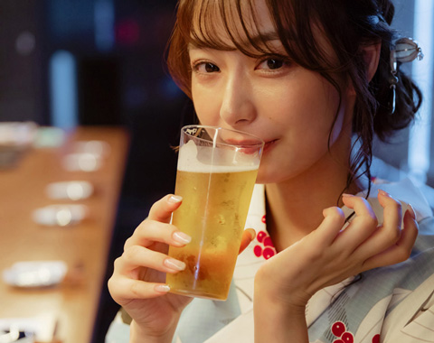 浴衣の宇垣美里さんと呑みに行きました!_メガスライダー