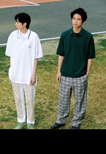ポロシャツ × トレンドパンツ今らしい着こなしをレッスン!_ホットトピックス