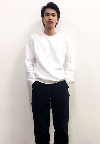 中田圭祐「モノトーンだからこそサイズ感にこだわっています!」_ホットトピックス